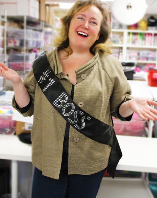Rhinestone Sash owner Steph finds an excuse to wear a sash!