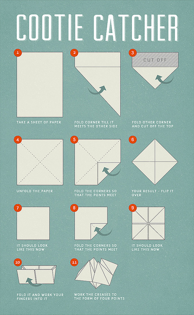 Origami Fortune Cookie Step By Step