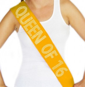 queen of 16 sash
